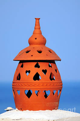 Pottery Photograph - Traditional Roof Pottery In Sifnos Island by George Atsametakis