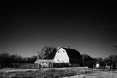 traditional Saskatchewan barn on farm in rural Canada Print by Joe Fox