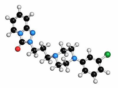 Trazodone Antidepressant Drug Molecule Print by Molekuul