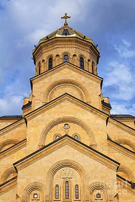 Tbilisi Photograph - Tsminda Sameba Cathedral Tbilisi by Robert Preston