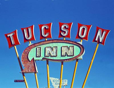 Neon Photograph - Tucson Inn by Matthew Bamberg