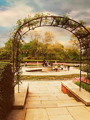 Walkway Digital Art - Tulip Garden by Jessica Jenney