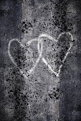 Graffiti Photograph - Two Hearts Graffiti Love by Carol Leigh