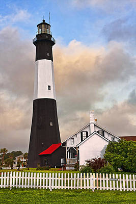 Fence Photograph - Tybee Lighthouse by Marcia Colelli