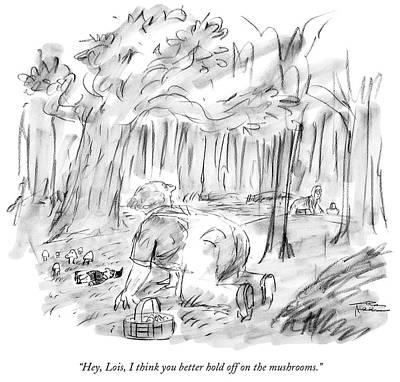 Mushroom Drawing - Untitled by Charles Addams