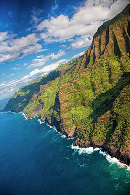 Usa, Hawaii, Kauai, Aerial Print by Terry Eggers