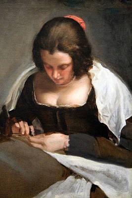 Velazquez's The Needlewoman Print by Cora Wandel