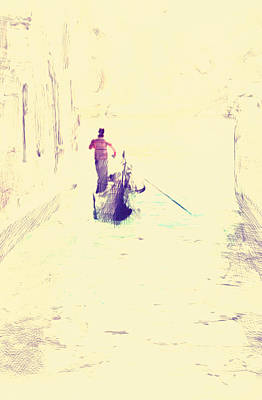 Venice Gondolier Print by Yury Malkov