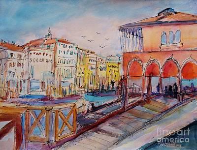 Grande Painting - Venice by Ingrid  Becker