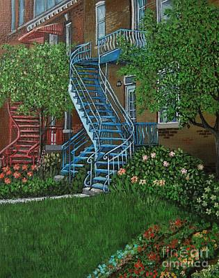 Verdun Painting - Verdun Stairs by Reb Frost