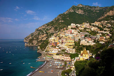 View Along The Amalfi Coast Print by Brian Jannsen