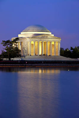 Thomas Jefferson Photograph - View Of The Jefferson Memorial by Brian Jannsen