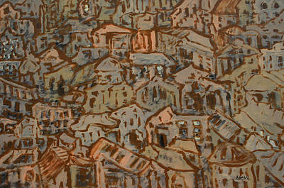 Painting - View Of Town by Oscar Penalber