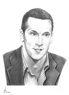 Hockey Original featuring the drawing Vincent Lecavalier by Murphy Elliott