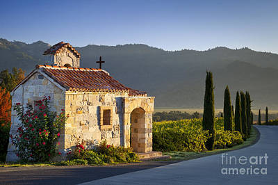 Vineyard Prayer Chapel Print by Brian Jannsen