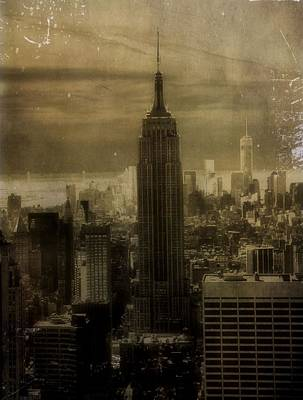Chrysler Building Mixed Media - Vintage New York City by Dan Sproul