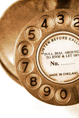 Tele Photograph - Vintage Telephone by Jorgo Photography - Wall Art Gallery