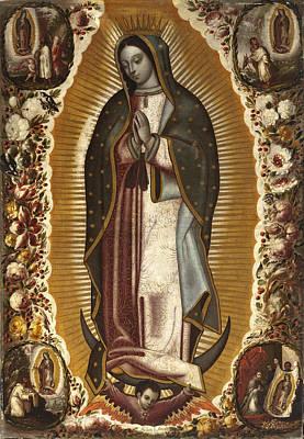 Virgen De Guadalupe Painting - Virgin Of Guadalupe by Manuel de Arellano