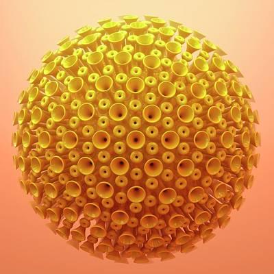Virus Particle Print by Maurizio De Angelis