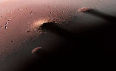 Laval Photograph - Volcanoes On Mars by Detlev Van Ravenswaay