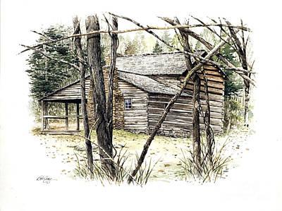 Walker Sisters Farm House Print by Bob  George