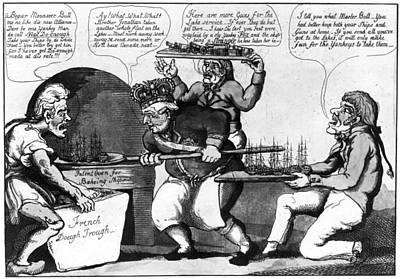 War Of 1812 Painting - War Of 1812 Cartoon by Granger