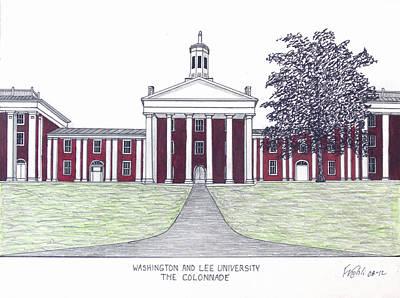 Washington And Lee University Print by Frederic Kohli
