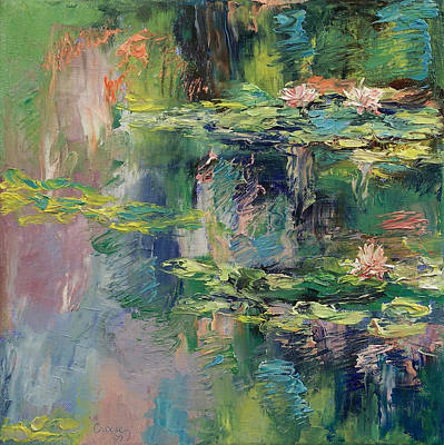 Lilly Pond Painting - Water Lilies by Michael Creese