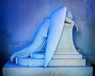 Metairie Cemetery Photograph - Weeping Angel IIi by Chris Moore