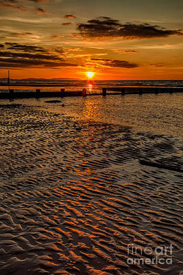 Great Britain Digital Art - Welsh Sunset by Adrian Evans