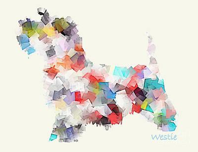 Westie Digital Art - Westie by Bri B