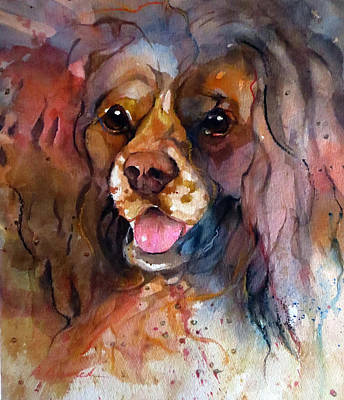 Cocker Spaniel Painting - Wet Kisses by Beverly Berwick