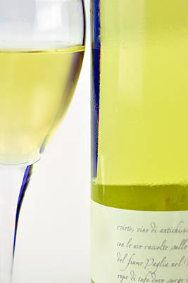 White Wine And Glass Print by Toppart Sweden