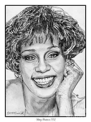 African-american Drawing - Whitney Houston In 1992 by J McCombie