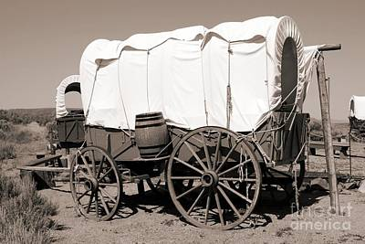 Wagon Train Photograph - Wild West Covered Wagons by Tony Craddock