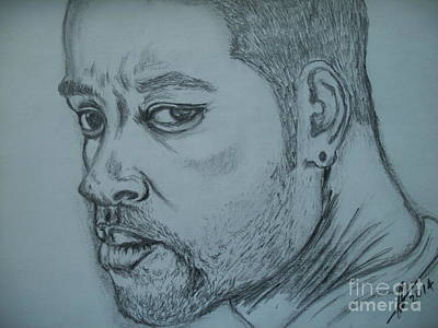 Music Ipod Drawing - Will Smith by Collin A Clarke