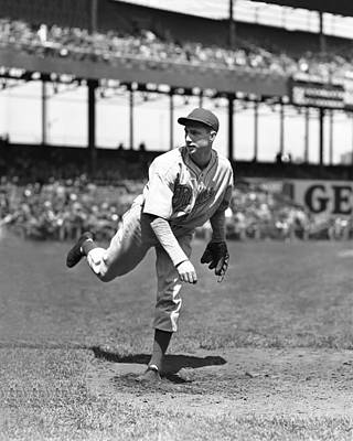 Philadelphia Phillies Stadium Photograph - William Henry bucky Walters by Retro Images Archive