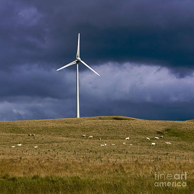 Conscious Photograph - Wind Turbine  by Bernard Jaubert