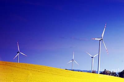 Windmill Photograph - Wind Turbines. by Michal Bednarek