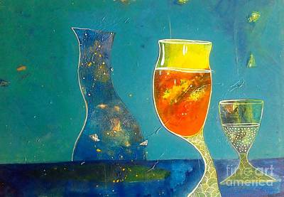 Painting - wine series II by Sanjay Punekar