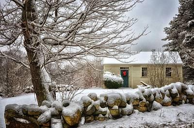 Shed Digital Art - Winter Cabin by Tricia Marchlik