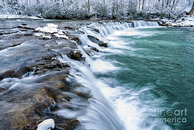 Winter Waterfall Print by Thomas R Fletcher