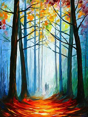Expecting Painting - Wise Forest by Leonid Afremov