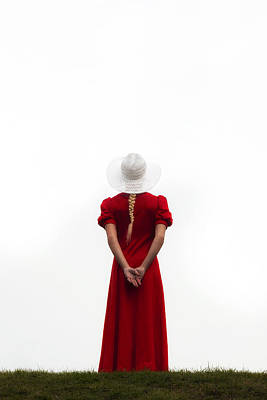 Thoughtful Photograph - Woman In Red by Joana Kruse