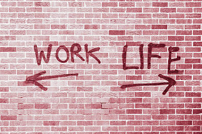 Work And Life Print by Tom Gowanlock