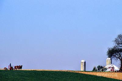 Cornfield Digital Art - Working The Fields by Thomas R Fletcher