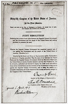 Resolution Painting - World War I Declaration by Granger