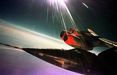 High Altitude Flying Photograph - X-15 Aircraft On A Boeing B-52 by Nasa