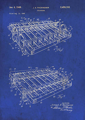 Xylophone Patent 1949 Print by Mountain Dreams