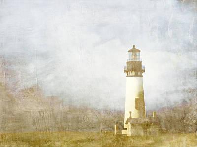 Yaquina Head Light Print by Carol Leigh
